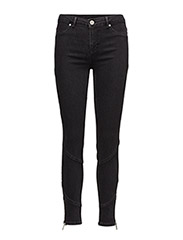 2ND Jolie Cropped Zip - DARK STONE WASH