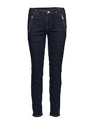 2ND Sally Cropped Zip - INDIGO HEAVY ENZYME