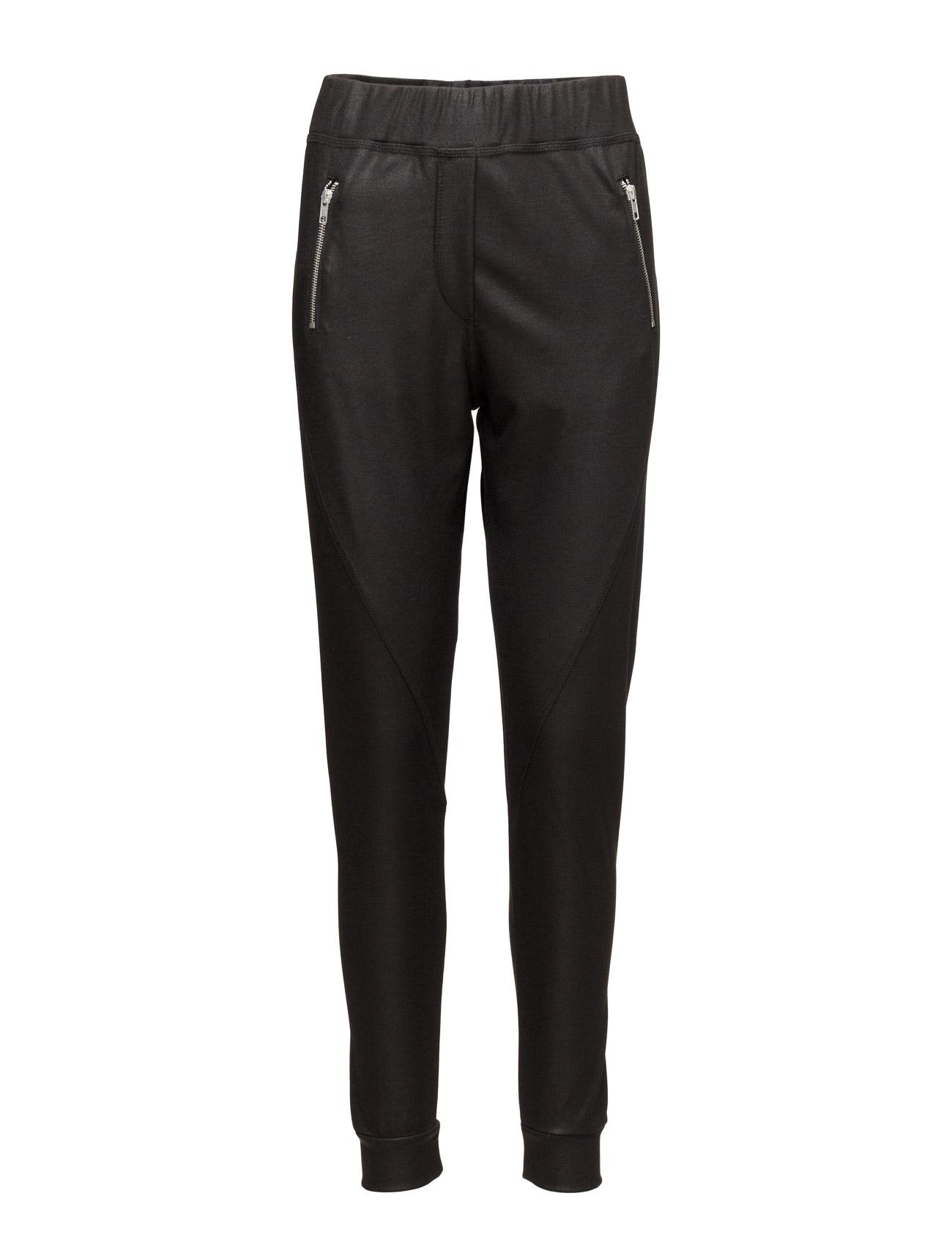 Miley 063 Zip, Current Black, Pants 2nd One Bukser til Kvinder i
