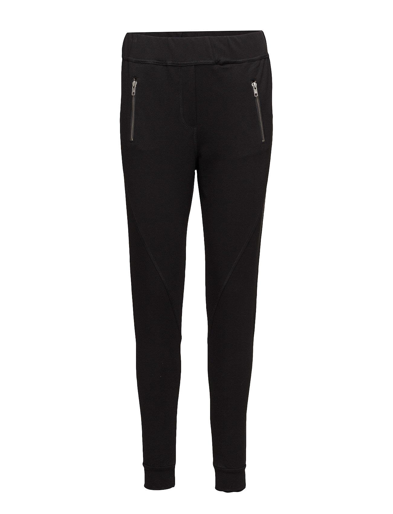 Miley 010 Zip, Black, Pants 2nd One Casual bukser til Damer i Sort