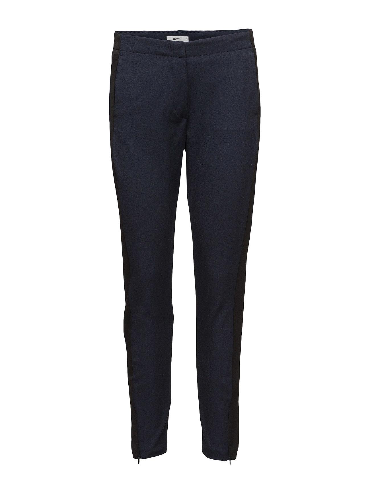 2nd one – Ellie 111 black stripe, pants fra boozt.com dk