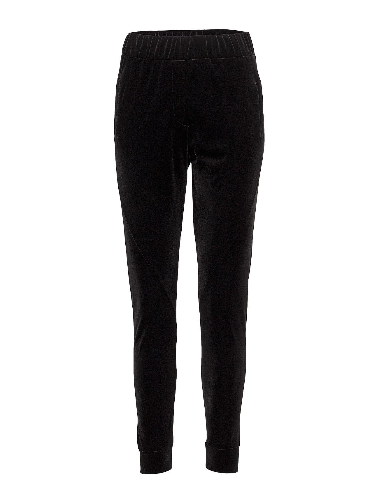 2nd one Miley 103 black velvet, pants på boozt.com dk