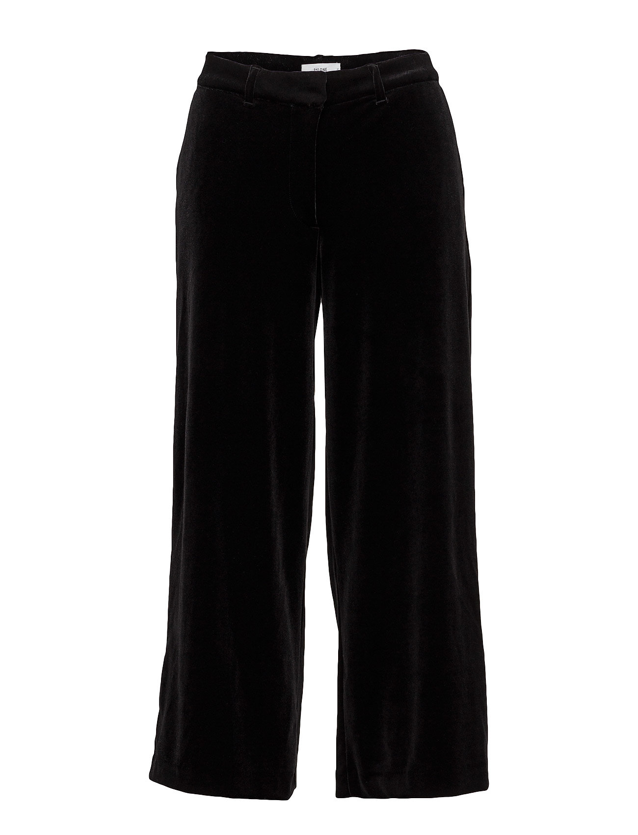 2nd one Eloise 103 crop, black velvet, pants på boozt.com dk