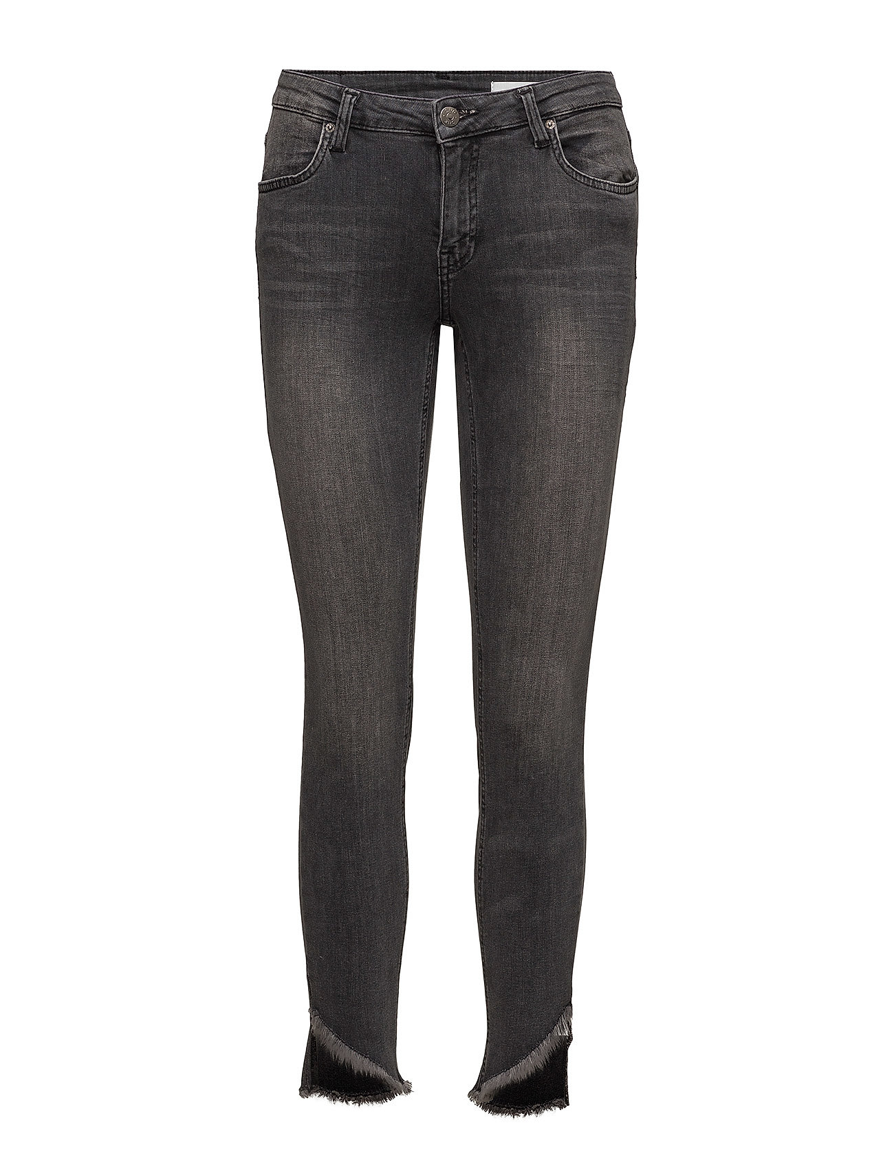 2nd one Nicole 834 crop, raw trashed grey, jeans på boozt.com dk