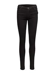 Nicole 002 Satin Black, Jeans - SATIN BLACK