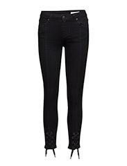Nicole 002 Tie, Satin Black, Jeans - SATIN BLACK