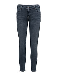 Nicole 106 Zip, Smoke Blue, Jeans - SMOKE BLUE