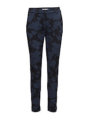 Carine 810 Navy Blossom, Pants - NAVY BLOSSOM