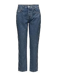 Brenda 039 Blue Hills Scallop, Jeans - BLUE HILLS SCALLOP