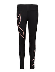 BONDED MidRise Comp Tights - BLACK/CANDLELIGHT PEACH