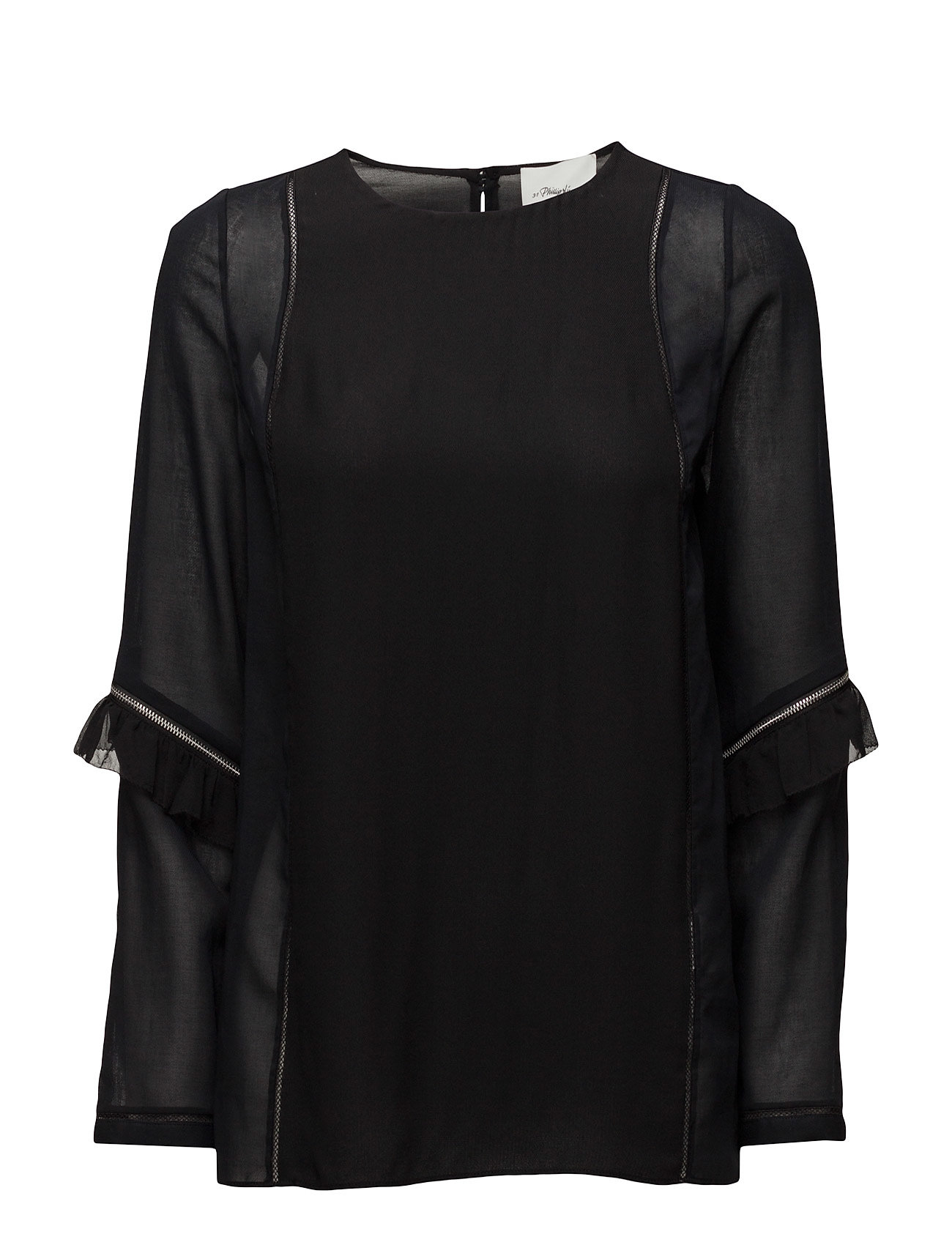 Ls top w ruffle and zip sleeve detail fra 3.1 phillip lim på boozt.com dk