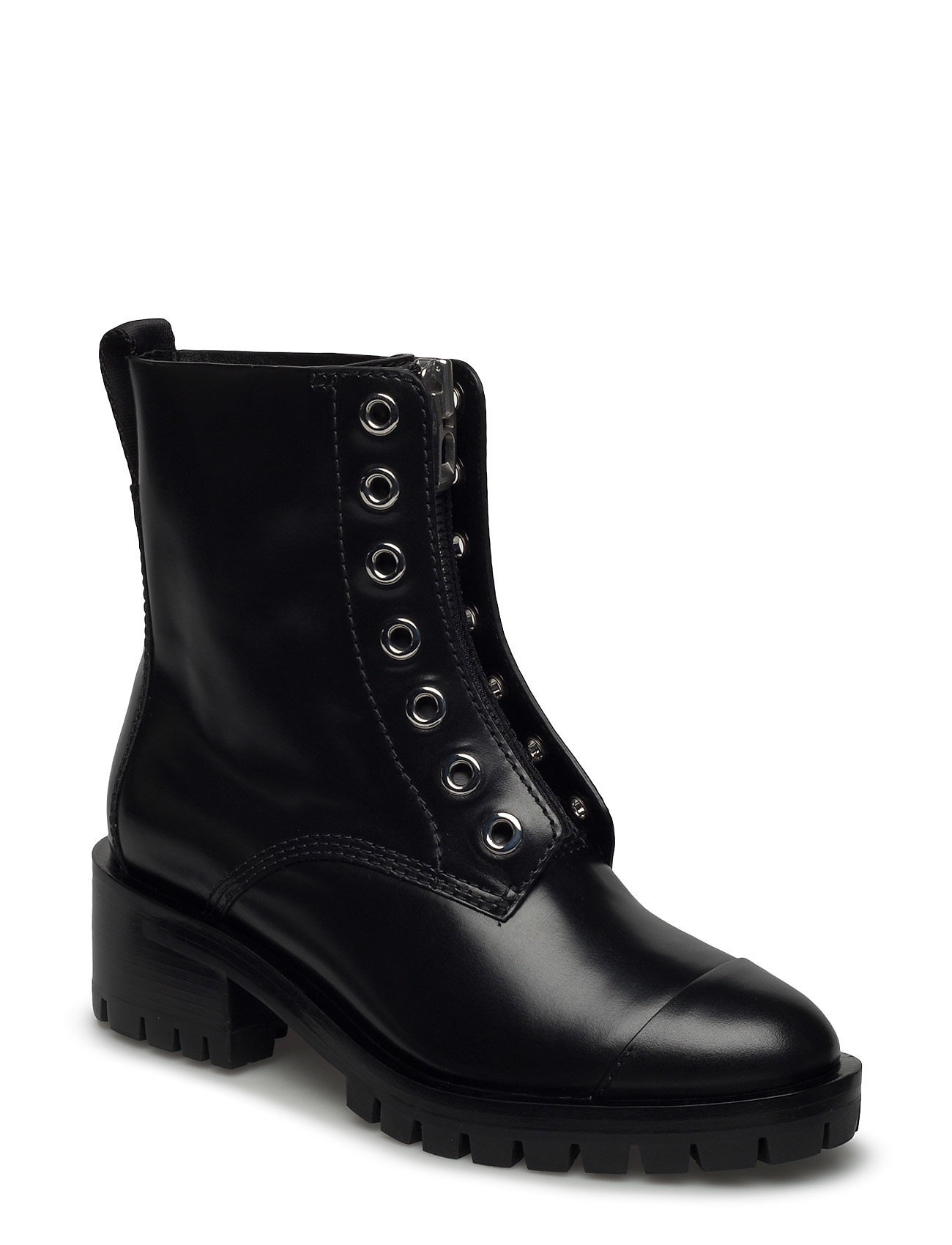 Hayett - lug sole zipper boot with knitted lace fra 3.1 phillip lim på boozt.com dk