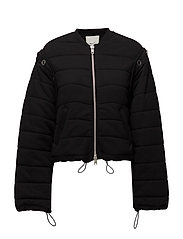 QUILTED BOMBER - BLACK