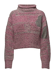 LS PLAITED TWEED CROPPED PO - CANDY PINK