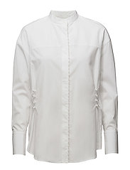 LS BLOUSE W PEARL EMBROIDERY - WHITE
