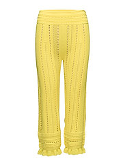 COMPACT POINTELLE LACE PANTS - CANARY