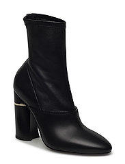 KYOTO - 105MM STRETCH BOOT WITH HEEL INSERT - BLACK