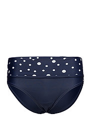 Pompom, folded brief - NAVY / WHITE DOT