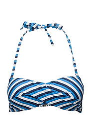 Holiday, twisted bandeau - NAVY/BLUE/WHITE