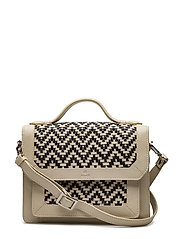 Alba handbag Athena - WHITE/BLACK