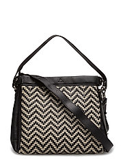 Alba shoulder bag Beata - BLACK/WHITE
