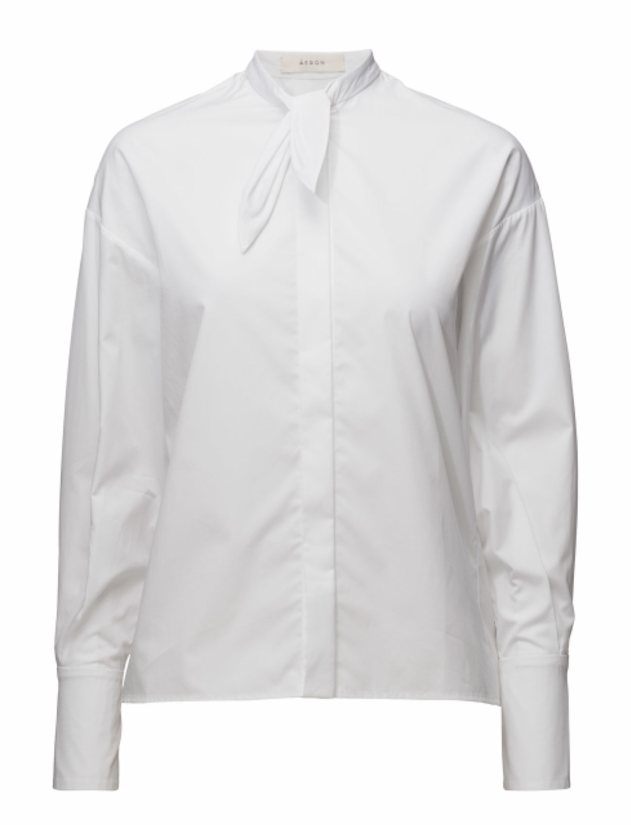 ãeron Front tie long cuff shirt fra boozt.com dk