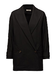 Long coat blazer - BLACK