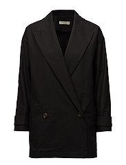 Long coat blazer - BLACK