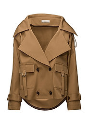 trench jacket - BISCUIT