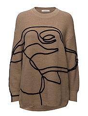 Mokka pullover - BEIGE