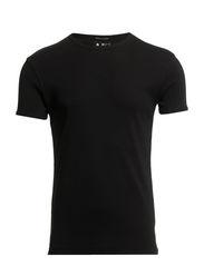 T-SHIRT - RIB O-NECK - Black