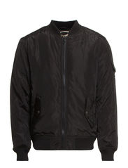PILOT JACKET WITH RIB - Black