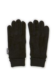 GLOVES WITH RIB - Black