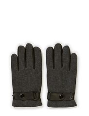 GLOVES WITH KNIT ON TOP - Black