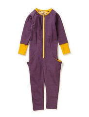 Dolly Zipper Suit - Purple