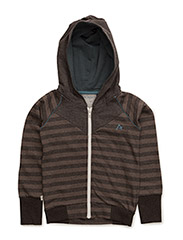Haldor Zipper Hood - JAVA STRIPED