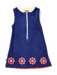 Erica Flower Dress - Blue