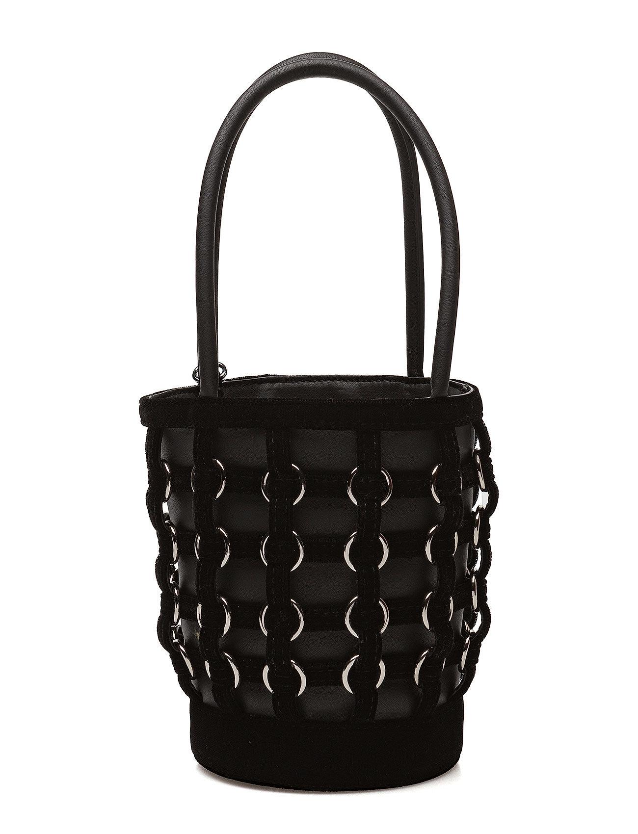 alexander wang Roxy mini bucket blk w/rng cge hvy silky velvet/ir på boozt.com dk