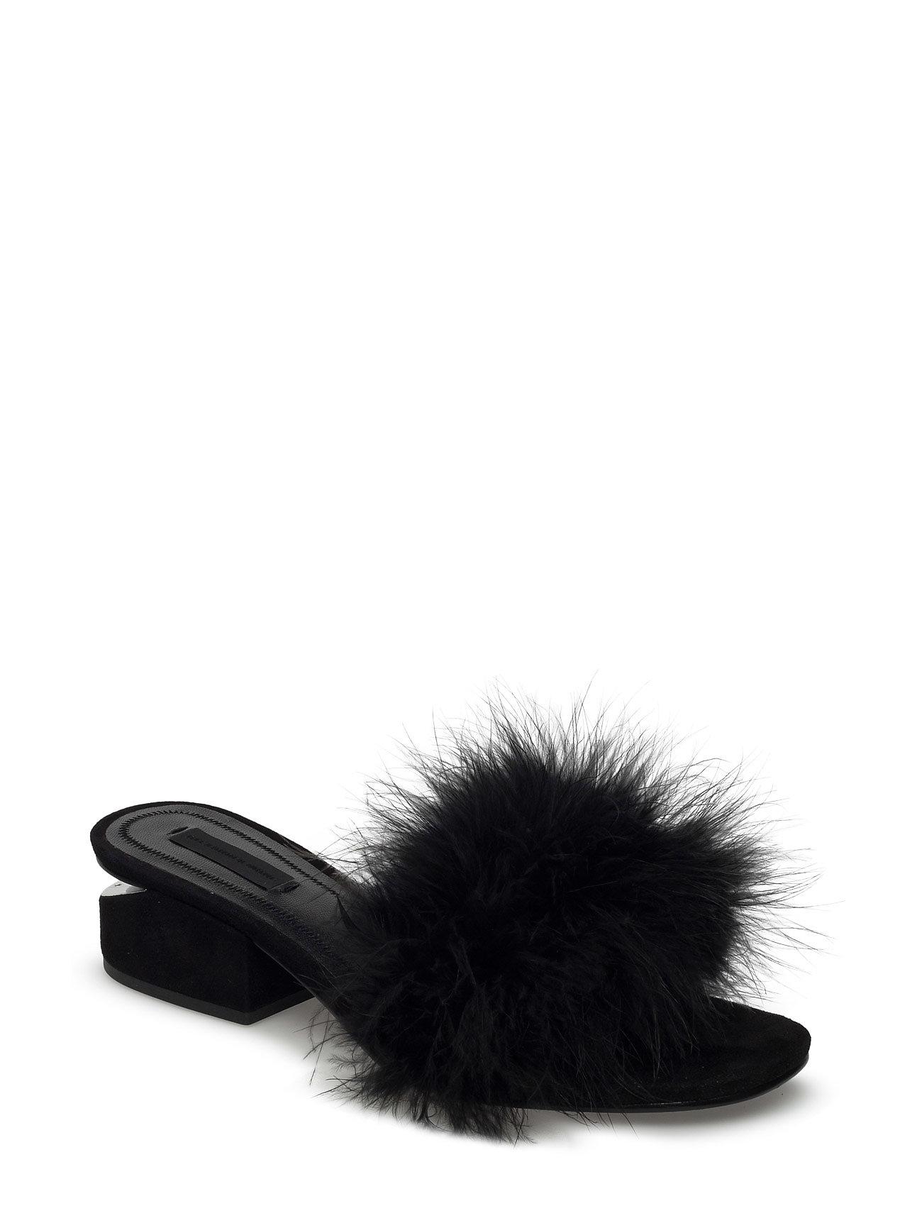 Lou black marabou feather/kid suede/rhodium fra alexander wang på boozt.com dk