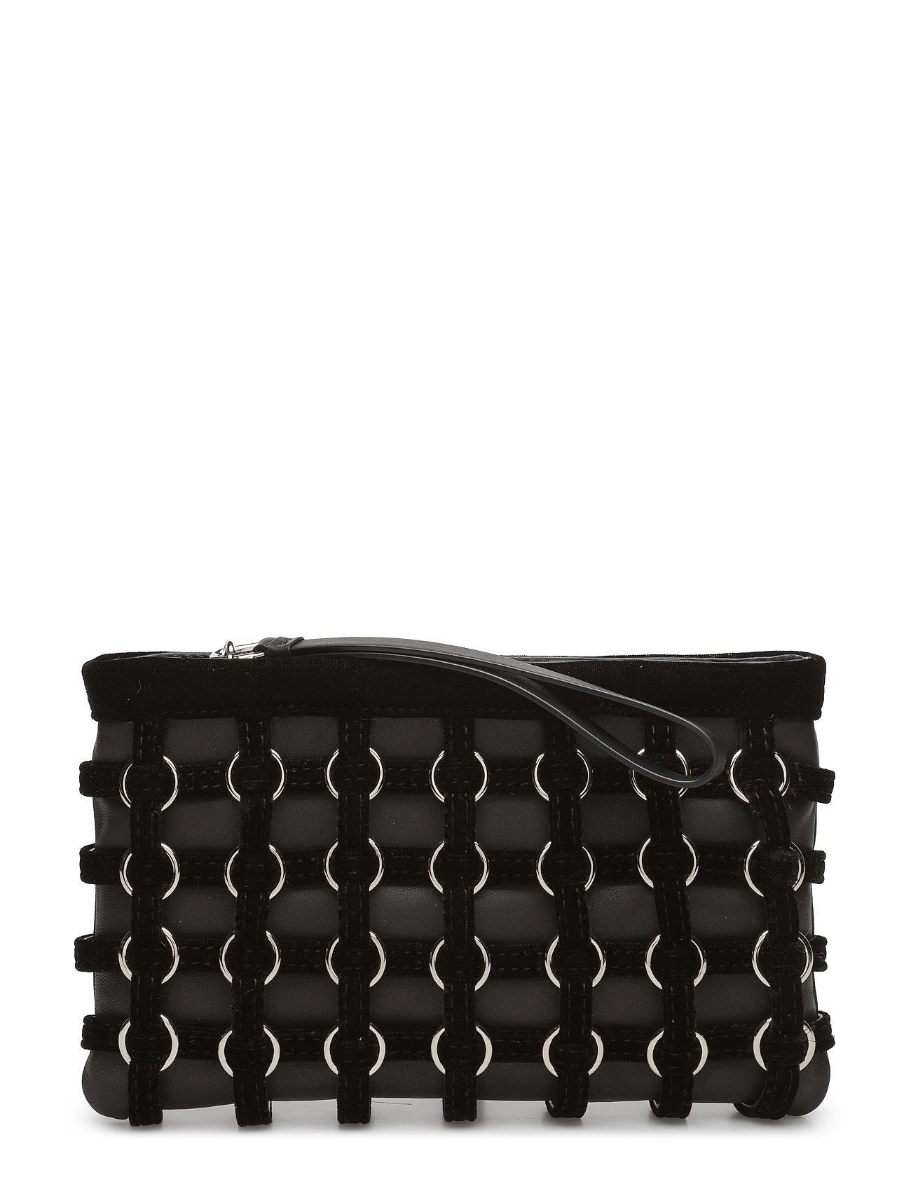 alexander wang Roxy cage pouch black hvysilky velvet/pv fra boozt.com dk
