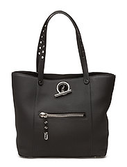 RIOT TOTE BLACK MATT SOFTPEBBLE /IR - BLACK