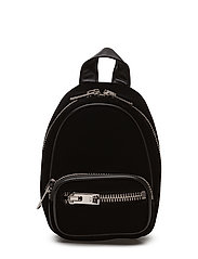 ATTICA SOFT MINI BKPK BLACK HVY SILKY VELVET/IR - BLACK
