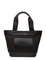 AW SM TOTE BLACK CANVASW/BLACK VACHETTA/IR - BLACK