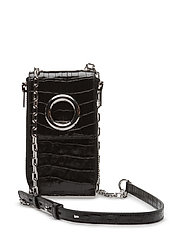 RIOT SHLDR WALLET BLACK CROC EMBOSSED CALF/IR - BLACK