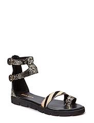 Kaya sandal - Gold/black