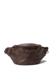 Canvas bum bag - Brown snake