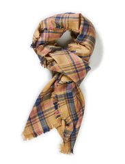 London check scarf - Rose