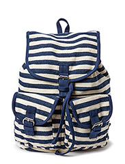 Striped backpack - Blue