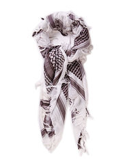 Partisan scarf - white/grey