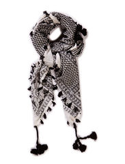Ethnic scarf - black/white